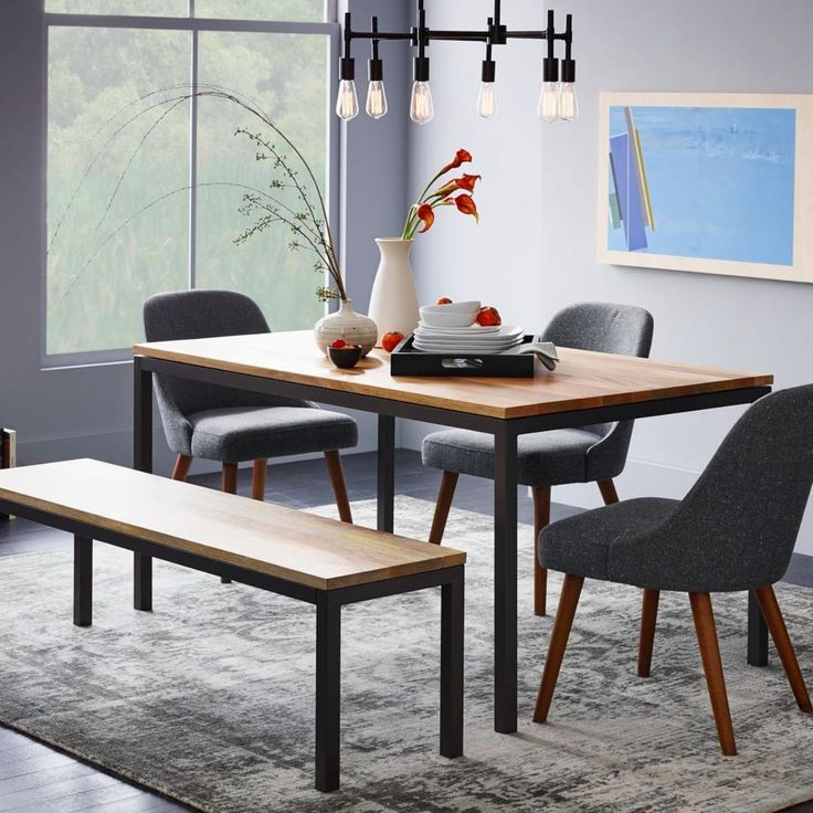 box frame dining table wood