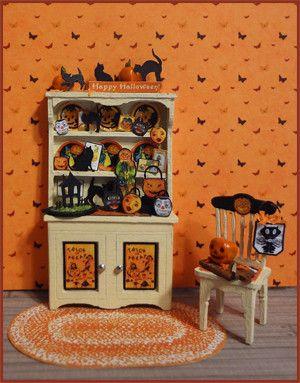 14 hiss boo vignette halloween miniaturesthe hutchhalloween decorationsholiday - Miniature Halloween Decorations