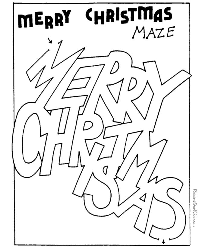 christmas coloring pages and mazes - photo#27