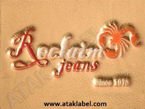 Leather label, hot stamping, debossed, embossing, faux leather label, pleather label, imitation leather, real leather  #leatherlabel #derietiket #ataklabel #ataketiket #denimlabel #jeanslabel #clothinglabel