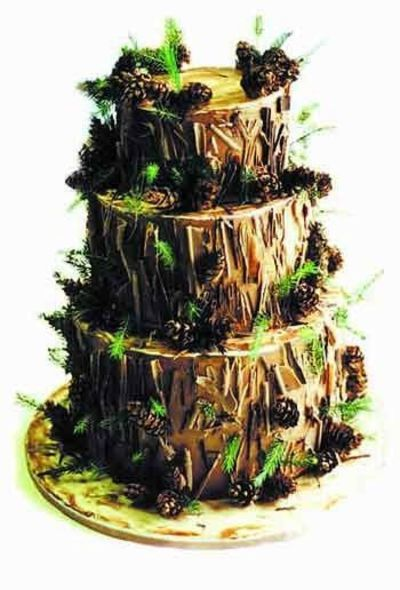 Wedding Cakes, forest theme | forest theme wedding cake / wedding cakes - Juxtapost