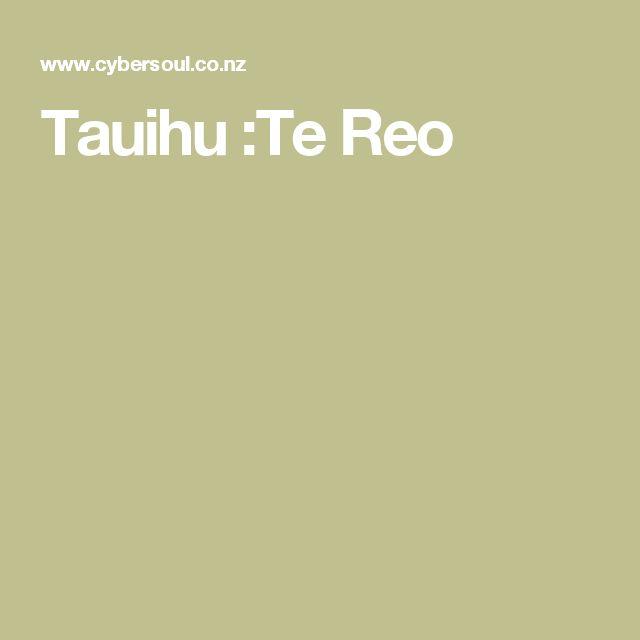 Tauihu :Te Reo