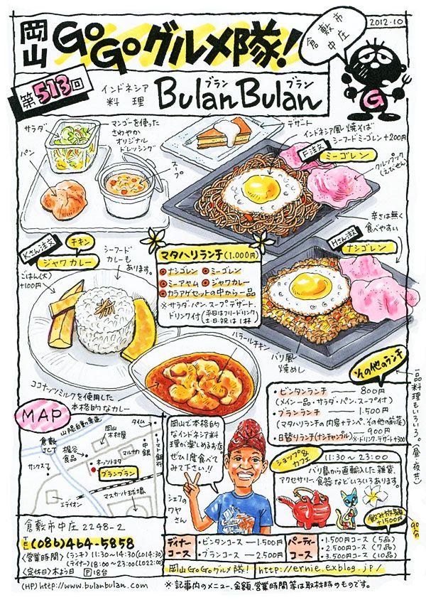 Indonesian cuisine Bulan Bulan Kurashiki City Okayama Japan