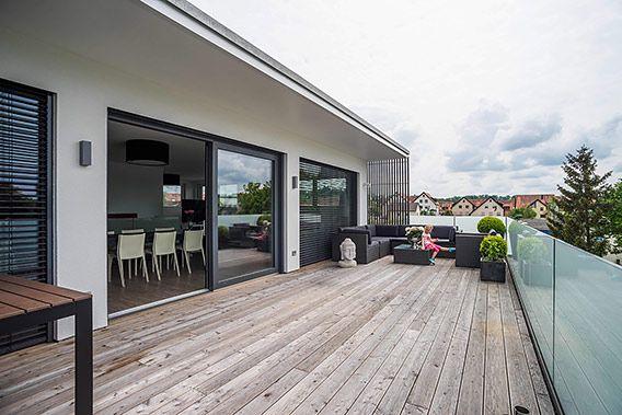 Modernisierte Projekte Von Weizenegger Bad Wurzach Flachdachhaus Anbau Haus Haus