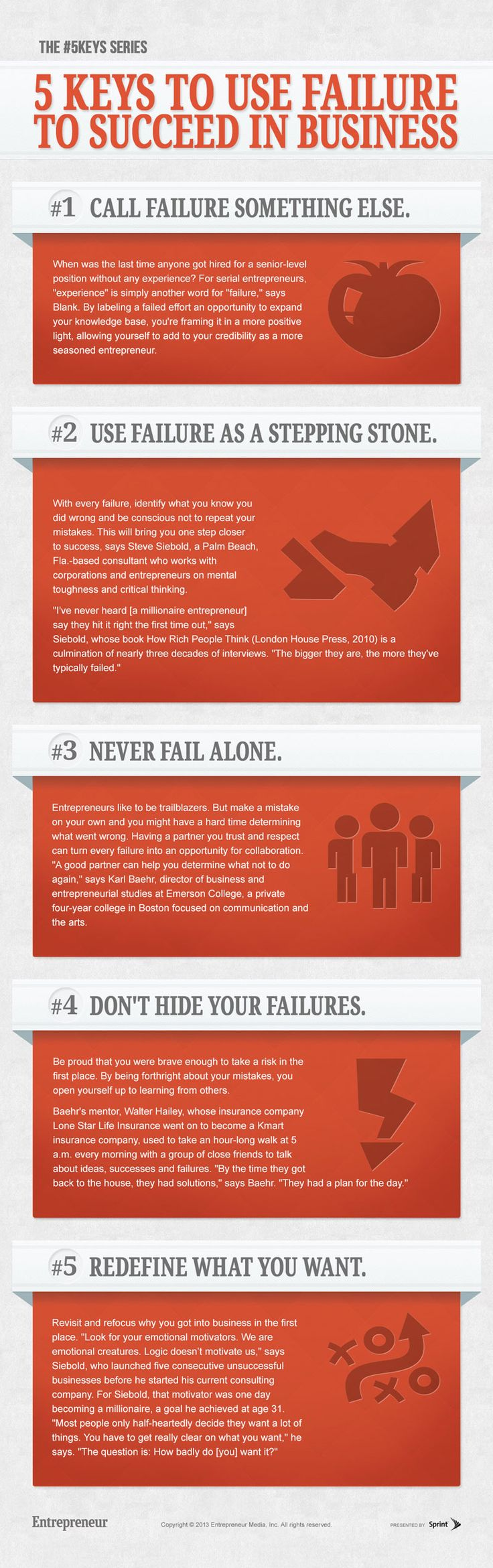 5 Keys to Use Failure to Succeed in Business