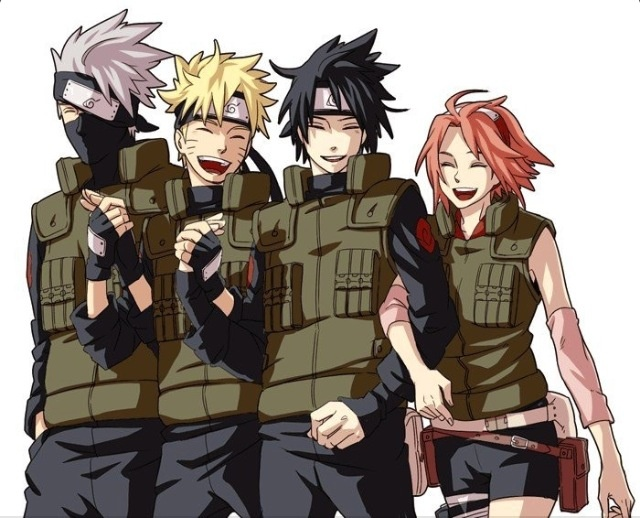 Team 7- I am still near the beginning, so seeing them all so close to Kakshi's height