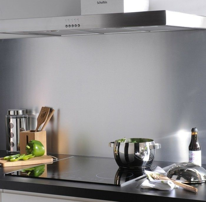 25 best ideas about credence inox on pinterest for Peinture carrelage inox