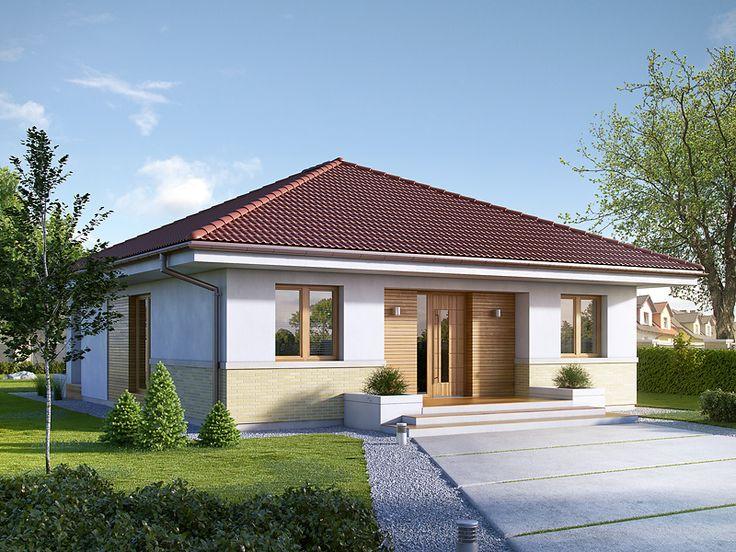 Elka 3 (91,64 m2) to nieduży projekt domu parterowego. Pełna prezentacja…