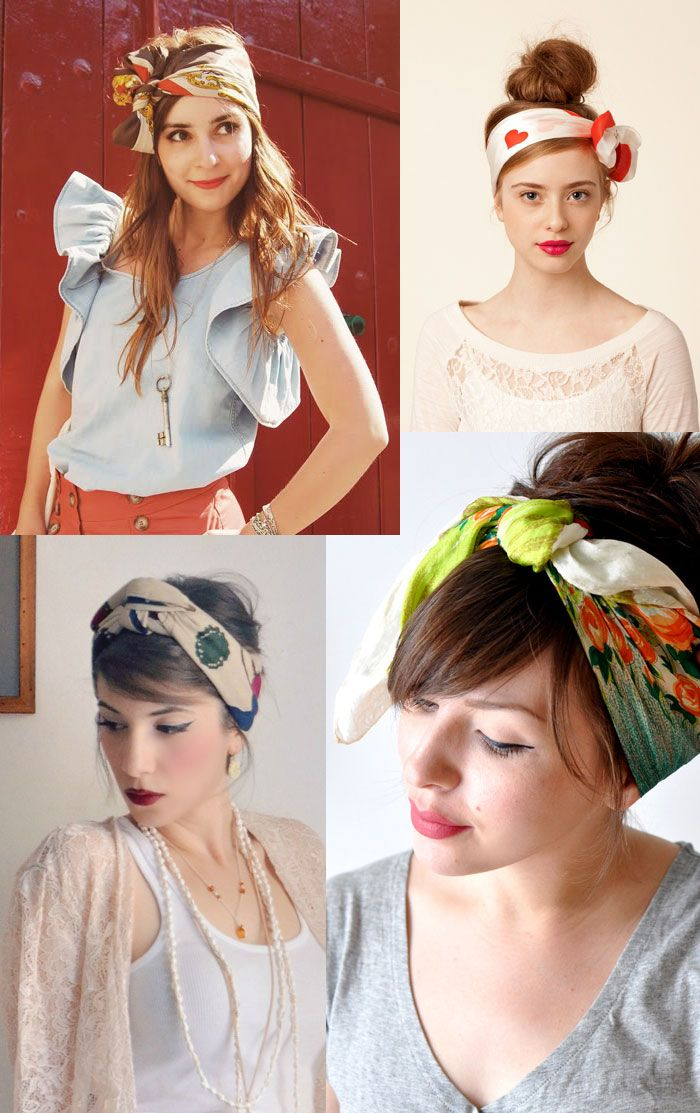 hair scarves! These get me through the days with my short hair :)