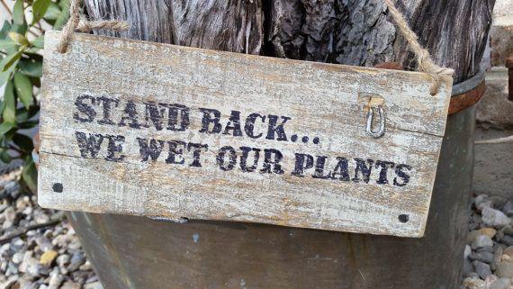 A fun little pallet wood sign for the garden
