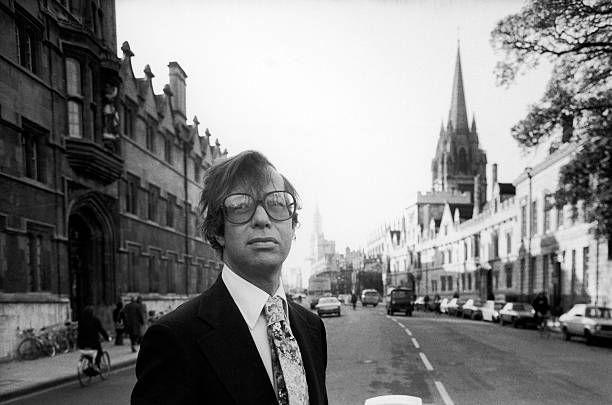 Ronald Dworkin, American Professor of Jurisprudence at Oxford University, walking along street.