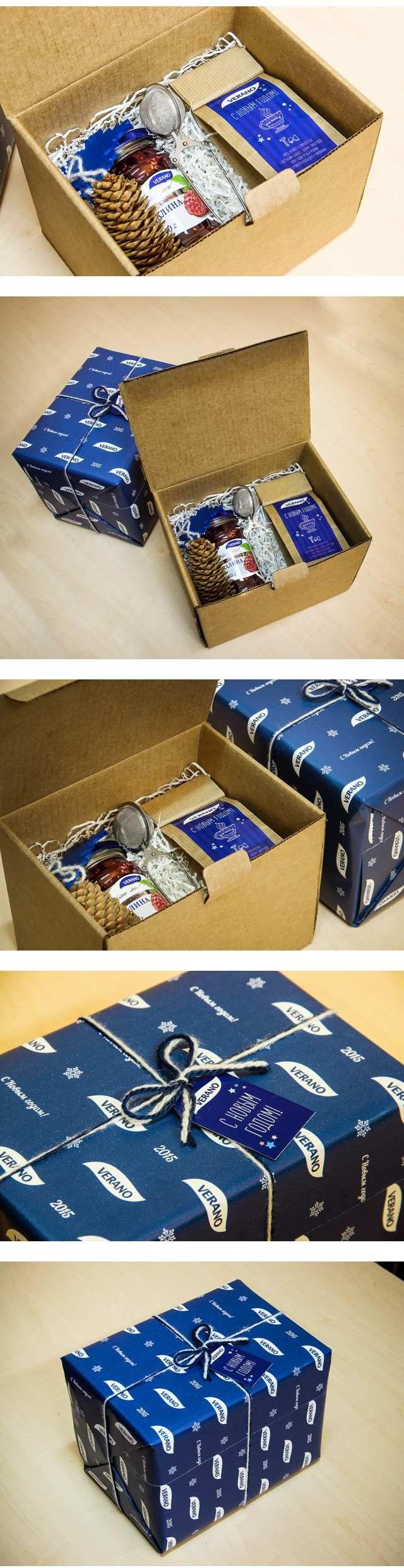 """Новогодние подарки для компании """"Верано"""" — Работы"""