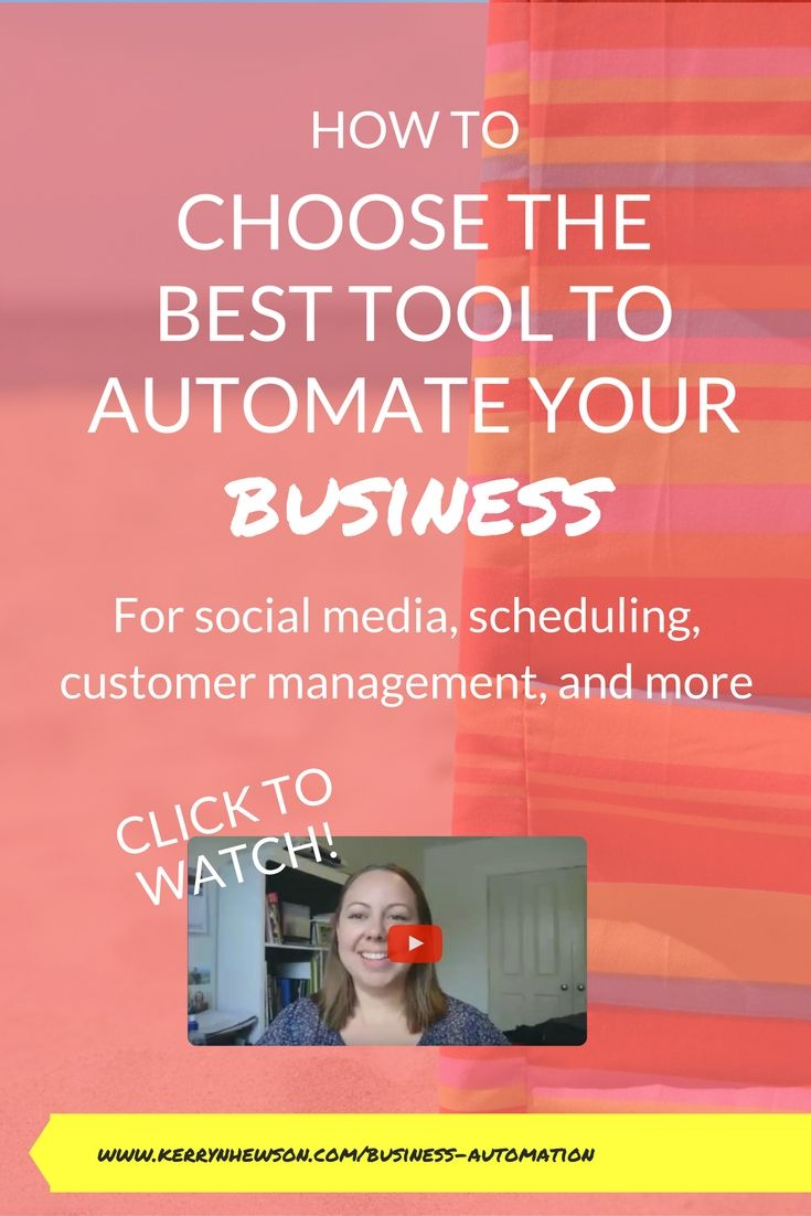 Let me share how to choose the best automation tool for how you work, who your customers are, and that fits your business.
