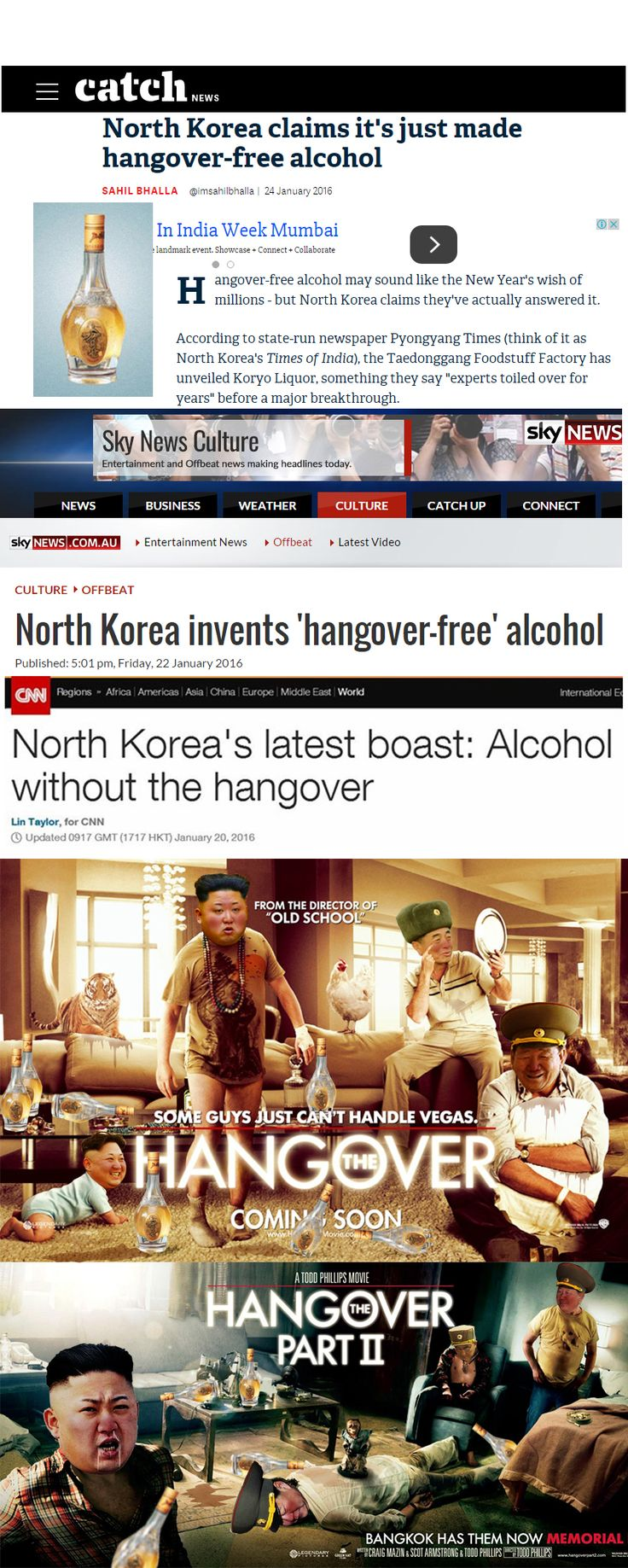 Drunken in North Korea