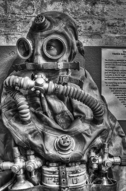 Vintage Russian Escape Suit, Diving Museum, Stokes Bay by scalespeeder, via Flickr