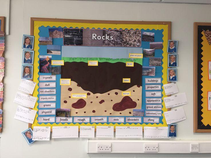 Rocks and soils display science rocks primaryschool teaching pinterest for Soil layers ks2
