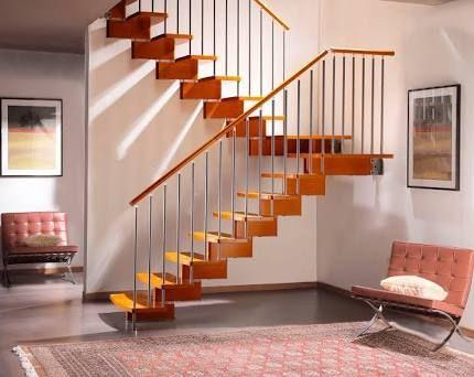 M s de 25 ideas fant sticas sobre barandas metalicas en for Escaleras metalicas para interiores casas