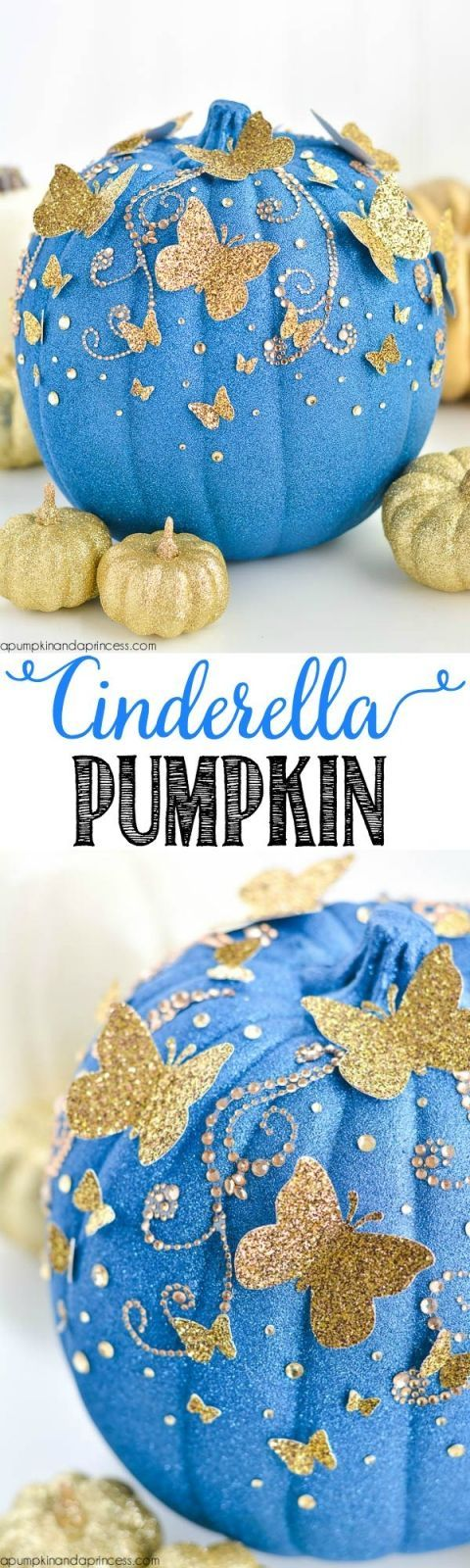 DIY Cinderella Butterfly Pumpkin