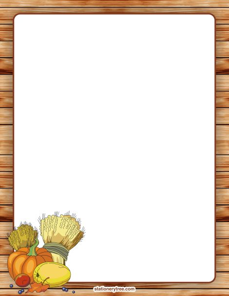 Happy thanksgiving border paper stationery 2 – Gclipart.com