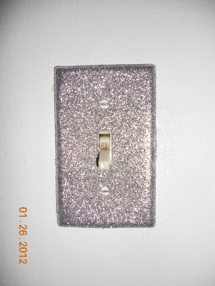 Glitter Light Switch Cover I Made Heather S Bug Bows