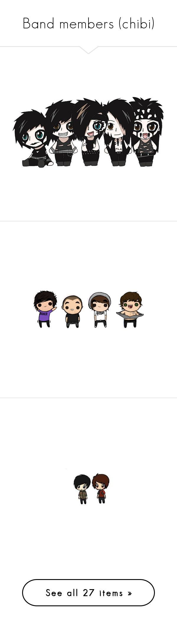 """""""Band members (chibi)"""" by bloody-hell-baby ❤ liked on Polyvore featuring accessories, black veil brides, bvb, andy, pictures, fillers, all time low, bands, drawings and backgrounds"""