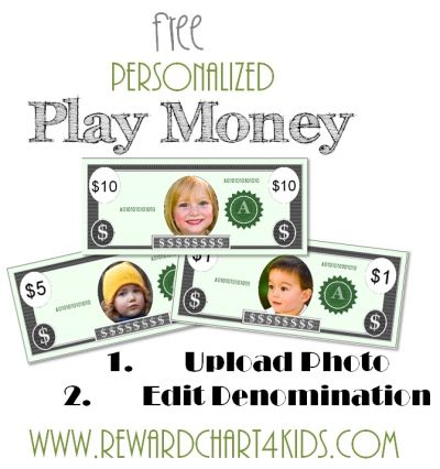 Free Printable Play Money   Change The Photo And Edit The Denomination. If  Using In  Free Money Templates