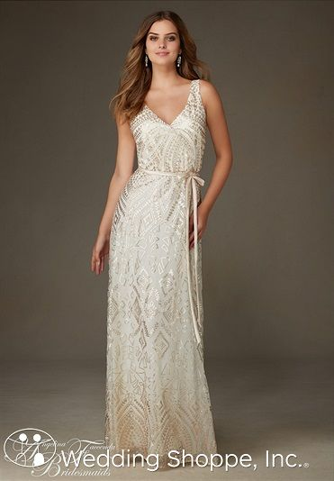 A stunning sequin bridesmaids dress at an affordable price.