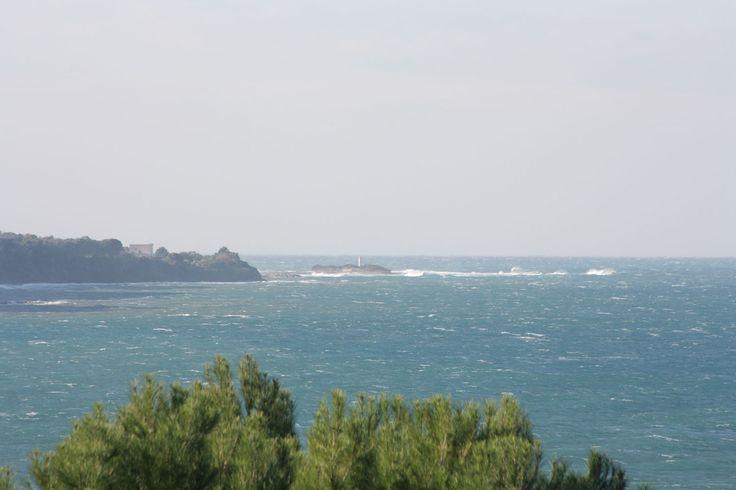 Giornata ventosa...sullo sfondo l'isola di Licosa.