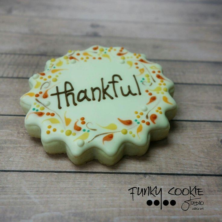 Thanksgiving cookies by Funky Cookie Studio