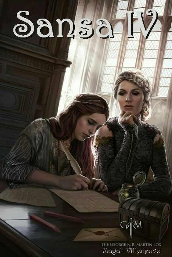 AGOT Sansa IV banner - Sansa's letter by Magali Villeneuve