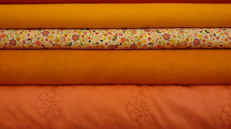 Oranje stoffen | VIA CANNELLA WOONWINKEL CUIJK | www.viacannella.nl
