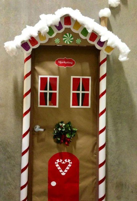 Ideas para decorar puertas escolares en navidad - Adornar la casa en navidad ...
