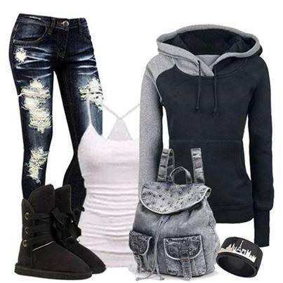 Jeans, Sweatshirts  Boots Season