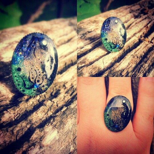 Handmade ring from acrylic powder
