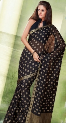 Refined Faux Georgette Saree with Blouse