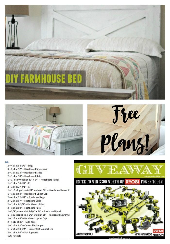 Building a Farmhouse Bed   RYOBI Power Tool Giveaway