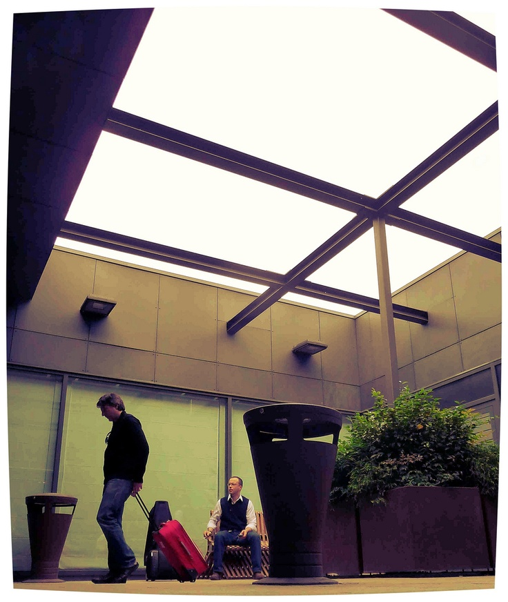 Bergamo. Orio al Serio Airport. Smoking Area.