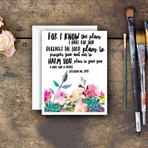 Jeremiah 29:11 Artist Greeting Card
