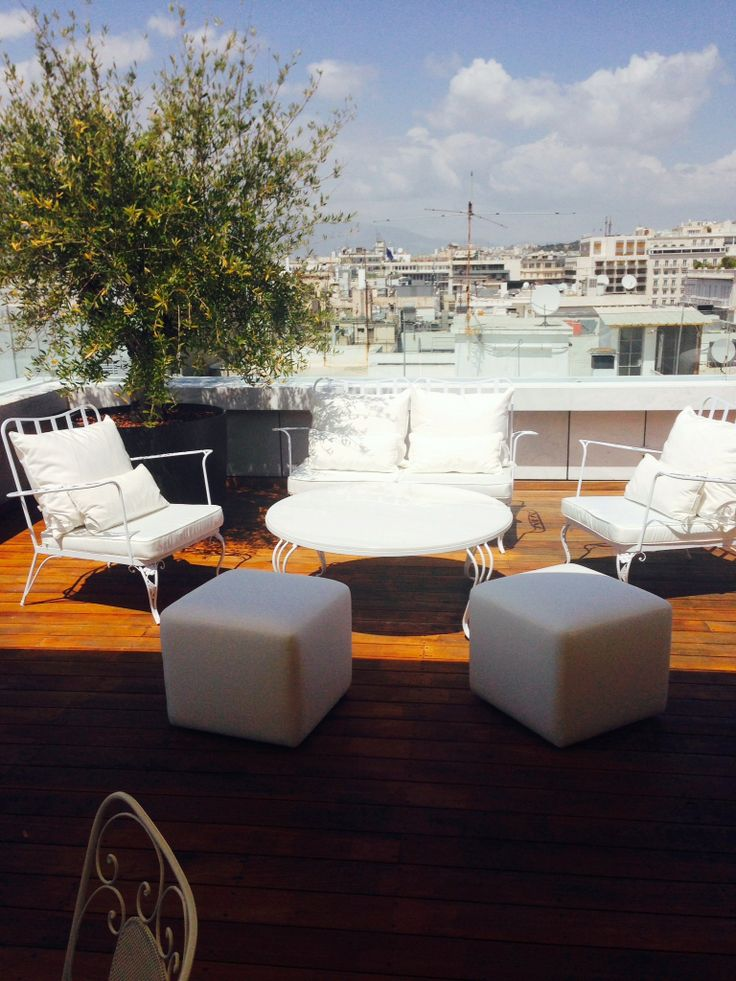 Penthouse Suite's #terrace at #NEWHotel, redesigned with a fresh, #summer mood! Enjoy! #redesign #sunny #spring #yeshotels #athens