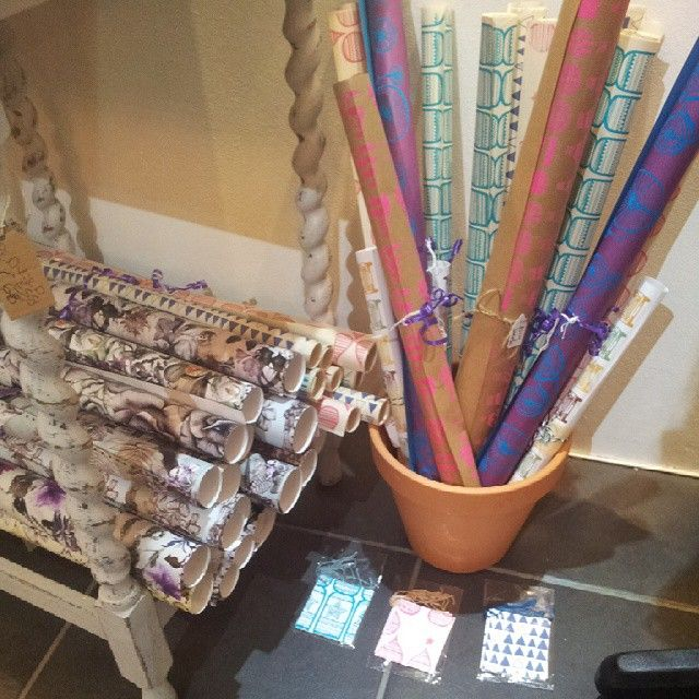 I've lots of lovely wrapping paper in, from several designers. #Huddersfield #handmade