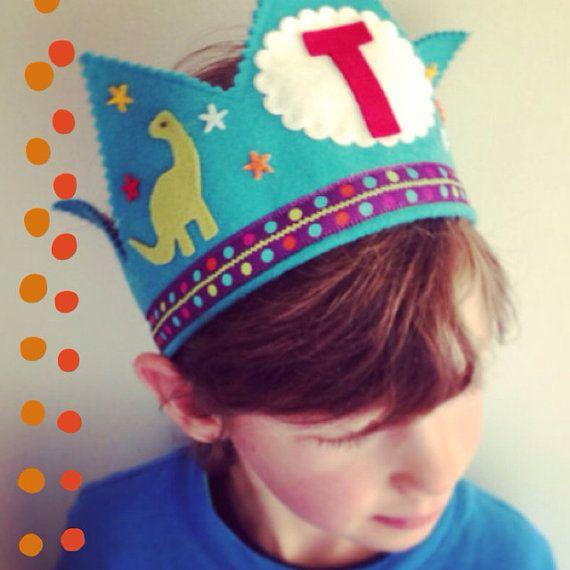 Dinosaur Crown - Birthday - Waldorf felt birthday crown on Etsy, $32.00