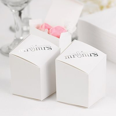 Mr. and Mrs. Prism Favor Boxes