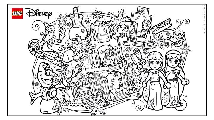 Coloring Fun With Frozen Lego Coloring Pages Lego Coloring Sheet Frozen Coloring Pages