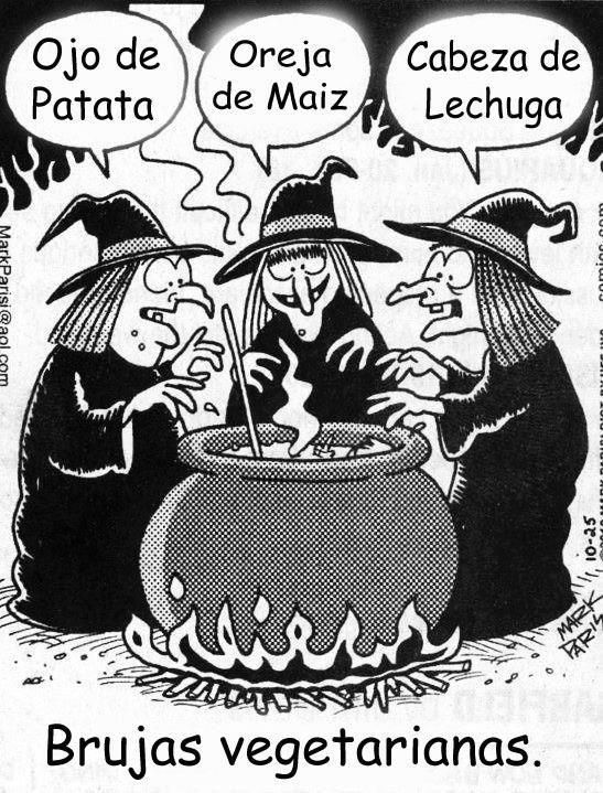 Brujas vegetarianas (vocabulario: la comida, las partes del cuerpo). Visit http://www.estudiafeliz.com for more fun materials for Spanish teachers and students!