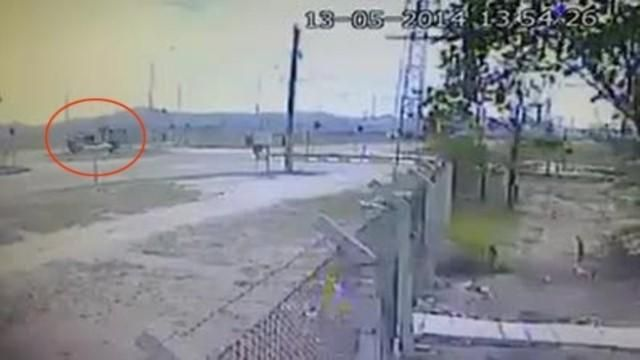TIR'ın Otomobili biçtiği kaza güvenlik kamerasında
