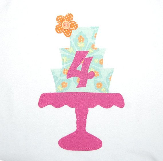 Girls birthday shirt ... Spring Flower Vintage Cake Stand ... Girls 4th Birthday shirt ... ready to ship
