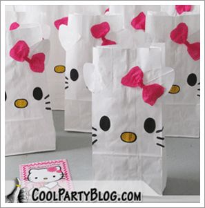 Hello Kitty treat bags. I am going to make a Halloween version