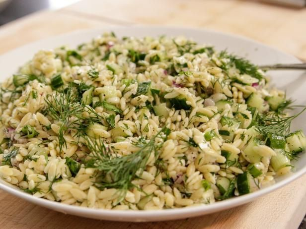 Get Herbed Orzo with Feta Recipe from Food Network