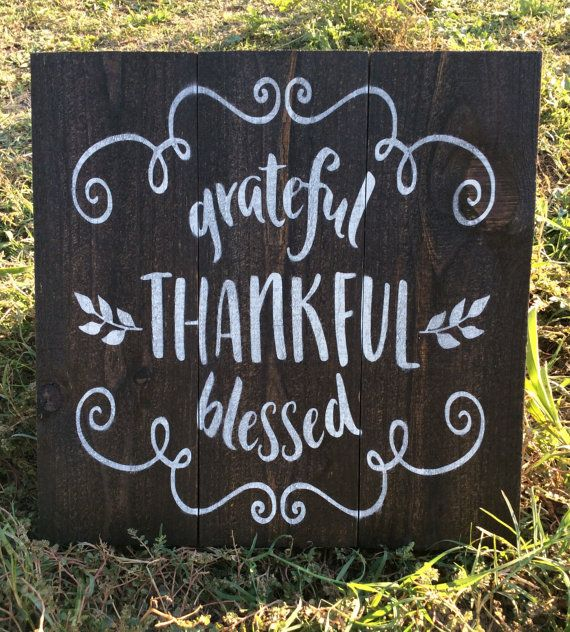 Grateful, Thankful, Blessed, Pallet Sign, Wood Sign, Fall Decor, Rustic Sign, Thanksgiving, Southern Decor, Kitchen Sign, Farmhouse,