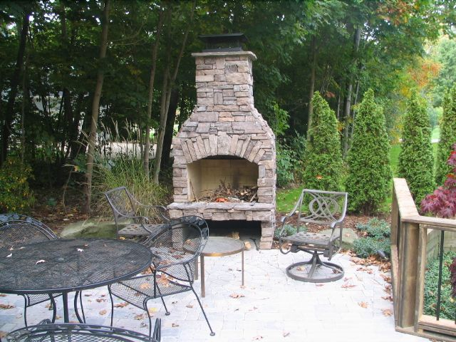 Outdoor Stone Fireplace Outdoor Fireplaces
